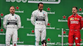 Motorsport Formel 1 - Großer Preis von China - Valtteri Bottas, Lewis HamiltoSebastian Vettel