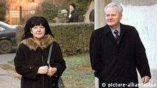 Ehemaliger jugoslawische Präsident Slobodan Milosevic und Ehefrau Mira Markovic