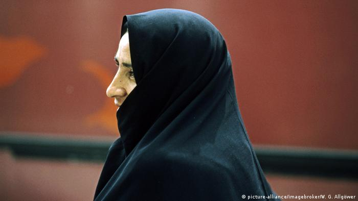 Iranian woman with religious veil