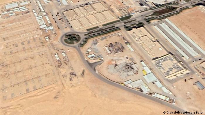 Saudi-Arabien, Baustelle eines Atomreaktor in der Nähe von Riad Baustelle von Saudi-Arabiens erstem Atomreaktor bei Riad (DigitalGlobe/Google Earth)