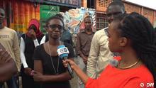 Afrika Uganda Straßendebat über Frauenermächtigung