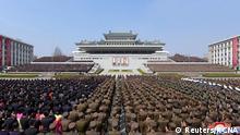 Nordkorea Pjöngjang   Feier Jahrestag Wiederwahl Kim Jong Un