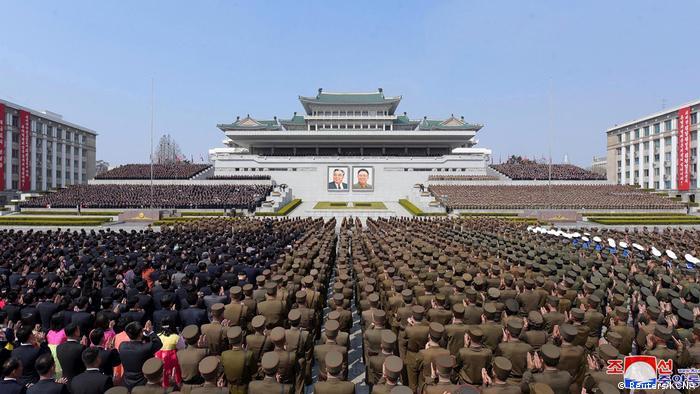 Nordkorea Pjöngjang | Feier Jahrestag Wiederwahl Kim Jong Un