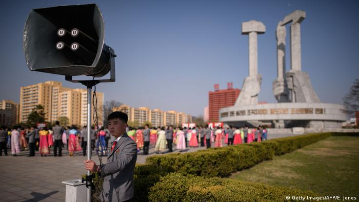 Nordkorea Pjöngjang | Feier Geburtstag Kim Il-sung (Getty Images/AFP/E. Jones)