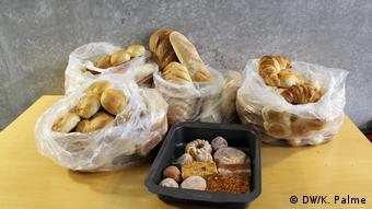 Donated bread at Leipzig bakery