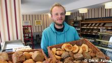 Man working at Leipzig bakery