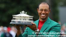 Golfsport Tiger Woods Sieger beim Masters in Augusta
