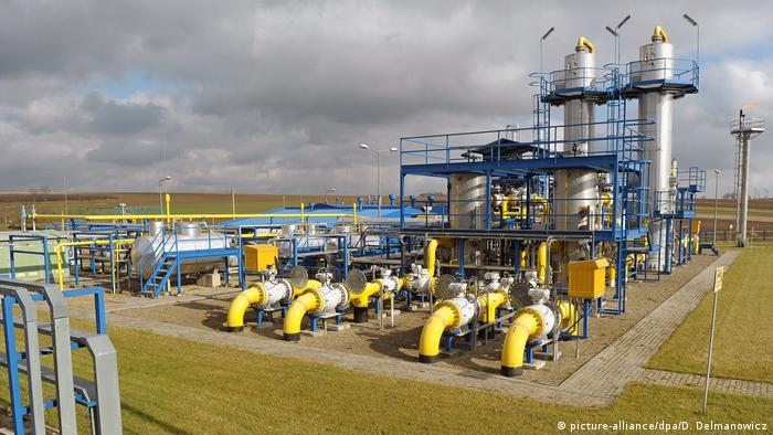 Сооружение по дегидратации газа в Польше
