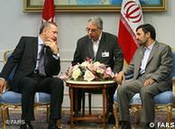 محمود احمدینژاد و رجب طیب اردوغان (چپ) روسای دولتهای ایران و ترکیه