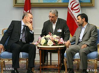 Turkish Prime Minister Recep Tayyip Erdogan and Iranian President Mahmoud Ahmadinejad
