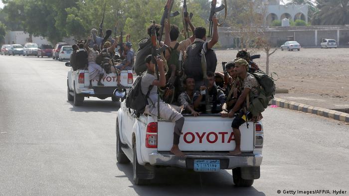 Jemen Konflikt Hafenstadt Hudaida Huthi Rebellen (Getty Images/AFP/A. Hyder)