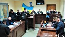 Verhandlung im Gericht in Kiev gegen russischen Journalisten Kyrylo Vyschynskyj