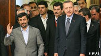 اردوغان در دیدار اخیرش از ایران به همراه محمود احمدی نژاد