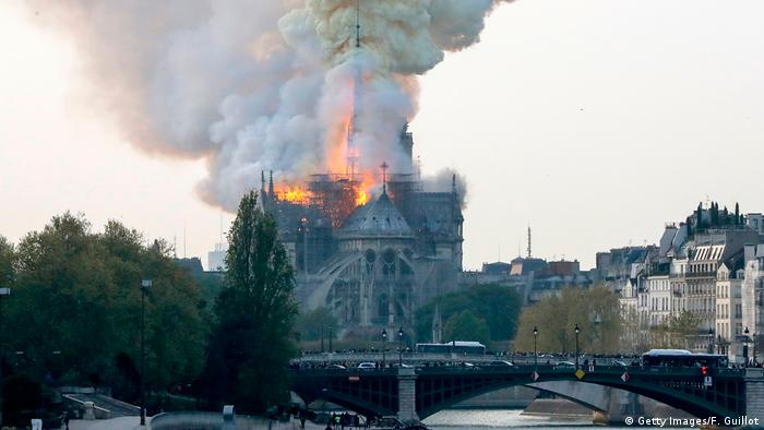 Notre-Dame Cathedral on fire in Paris (Getty Images/F. Guillot)