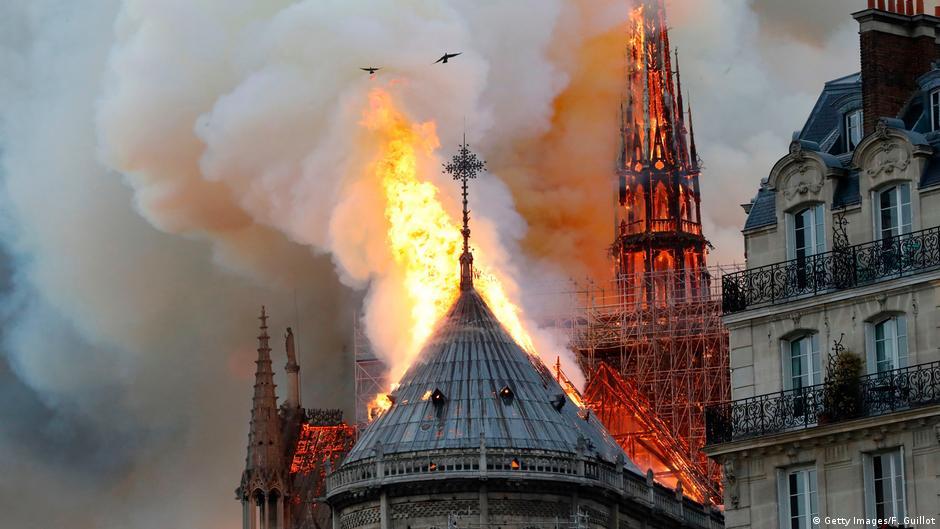 Notre Dame Katedrali'nde yangın çıktı ile ilgili görsel sonucu