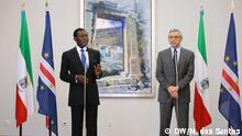 Präsident von Äquatorialguinea, Teodoro Obiang, auf Kap Verde, mit dem Präsidenten José Carlos Fonsenca