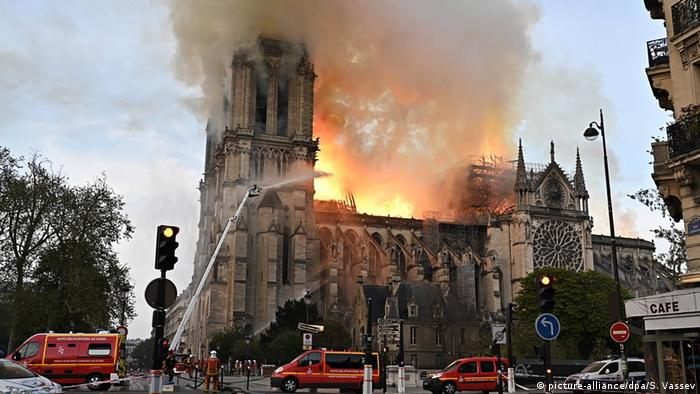 Firefighters race to put out a massive fire engulfing Notre Dame in Paris