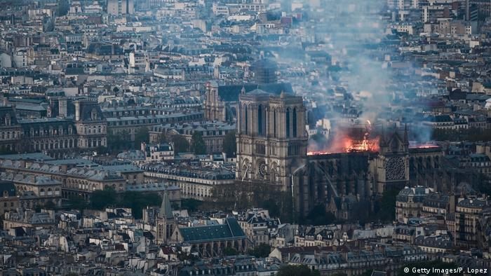 Kathedrale Notre-Dame in Paris brennt (Getty Images/P. Lopez)