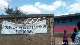 Mosambik, Nampula: Station von Wählerregistrierung in Nampula