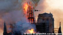 Сильнейший пожар в соборе Парижской Богоматери (фотогалерея)