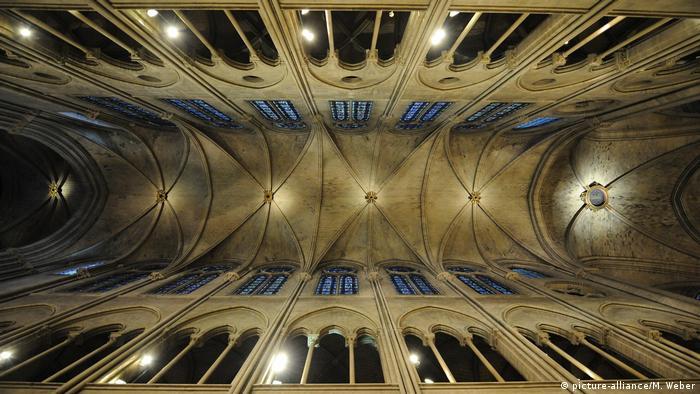 Notre Dame's vault seen from below
