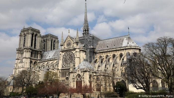 The Notre Dame in Paris seen in March, 2019