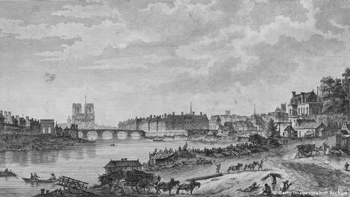 Frankreich, Paris: Architektur der Kathedrale Notre Dame - 1780 (Getty Images/Hulton Archive)