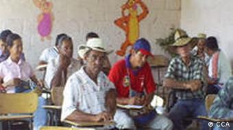 Kolumbien Vertriebene Campesinos Versammlung