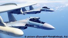 Chinesische Luftwaffe Su-35-Kampfflugzeuge