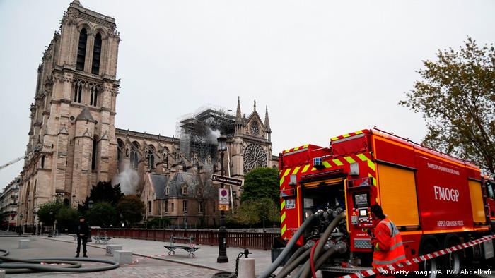 Frankreich Paris | Brand der Kathedrale Notre-Dame de Paris (Getty Images/AFP/Z. Abdelkafi)