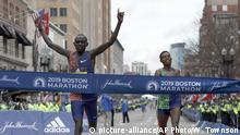 USA Boston Marathon Lawrence Cherono (picture-alliance/AP Photo/W. Townson)