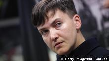Ukraine Nadeschda Sawtschenko Abgeordnete und Ex-Pilotin