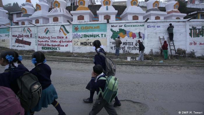 Indien Wahlkampf in Gorkhaland Region