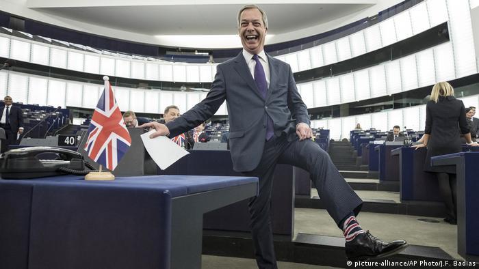 Nigel Farage, del Partido Británico del Brexit.
