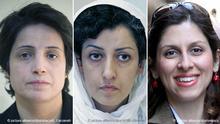 Bildkombo Nasrin Sotoudeh, Narges Mohammadi, Nazanin Zaghari
