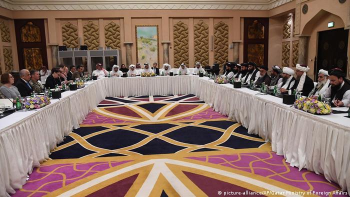 Katar Friedensgespräche für Afghanistan (picture-alliance/AP/Qatar Ministry of Foreign Affairs)