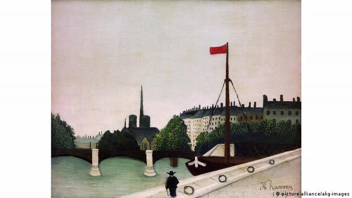 Анри Руссо, Вид на остров Сен-Луи, 1909 г.