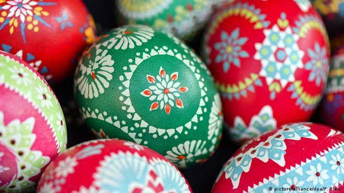 Традиционное пасхальное яйцо