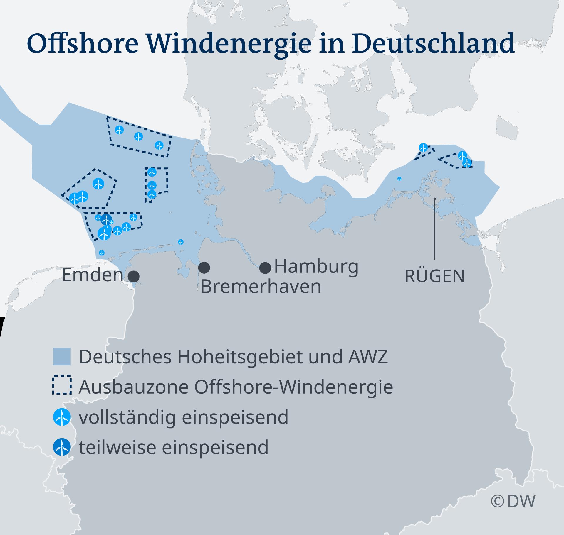 Infografik Offshore Windenergie in Deutschland DE