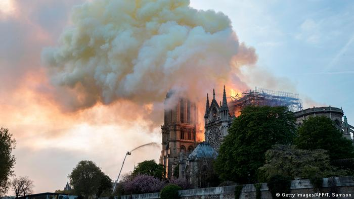 Frankreich Paris | Brand der Kathedrale Notre-Dame de Paris (Getty Images/AFP/T. Samson)