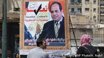 Ägypten Poster zur geplanten Verfassungsänderung
