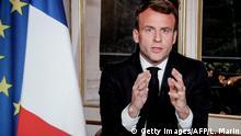 Frankreich Präsident Macron TV Rede