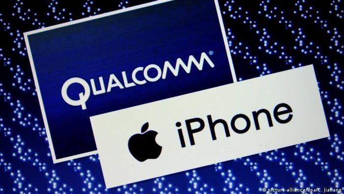 Symbolbild: Apple Qualcomm (picture-alliance/dpa/C. Jialiang)
