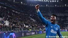 Soccer Football - Champions League Quarter Final Second Leg - Juventus v Ajax Amsterdam - Allianz Stadium, Turin, Italy - April 16, 2019 Ajax's Andre Onana celebrates after the match REUTERS/Alberto Lingria