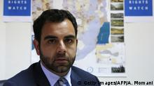 Human Rights Watch's Israel and Palestine director Omar Shakir, a US citizen, sits at his office in the West Bank city of Ramallah on May 9, 2018. - Israel has given the Human Rights Watch director two weeks to leave the country, accusing him of promoting a boycott, in a move the rights group said sought to muzzle criticism. (Photo by ABBAS MOMANI / AFP) (Photo credit should read ABBAS MOMANI/AFP/Getty Images)