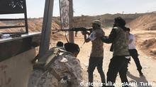 Auseinandersetzungen zwischen Haftars Streitkräften und der libyschen Regierung in Tripolis