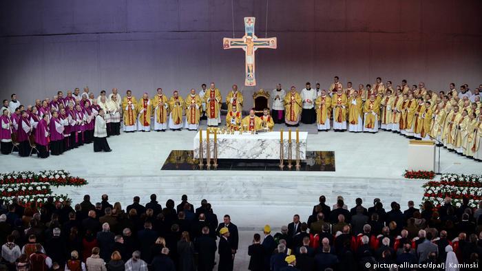 Primate of Poland, archbishop Wojciech Polak celebrates the holy mass in Warsaw
