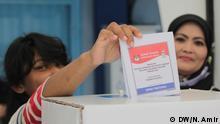 Indonesien Makassar - TPS Wahl