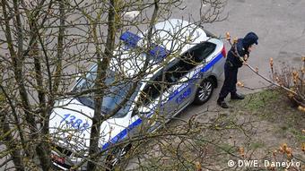 Милиция под окнами офиса Белсата в Минске