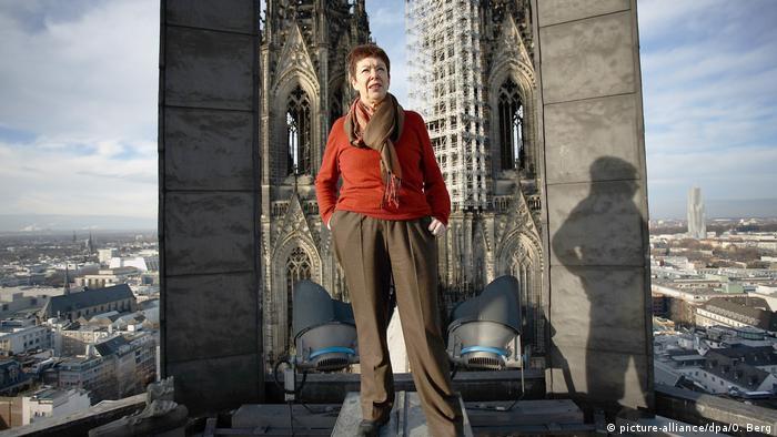 Barbara Schock-Werner na dachu kolońskiej katedry